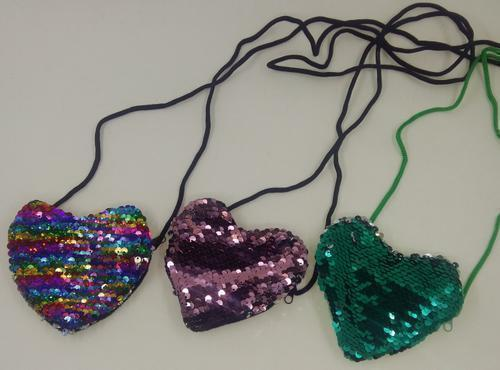Sequins Heart Bag 10cm