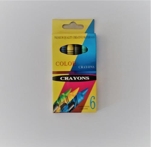 Colour Crayons 9cm 6pc