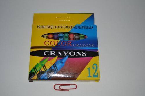 Colour Crayons 9cm 12 piece