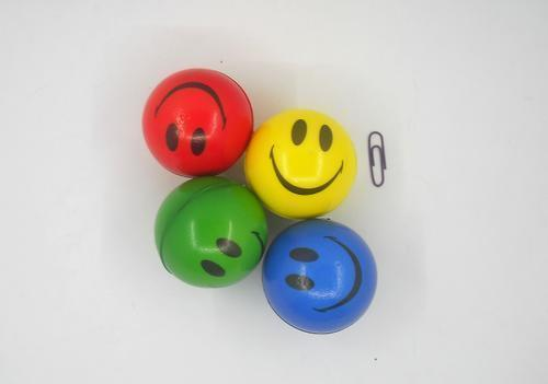 Ball PU Smiley 6.3cm