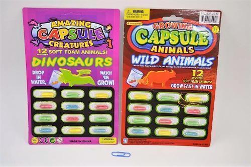 Foam Capsule Creatures Set/12
