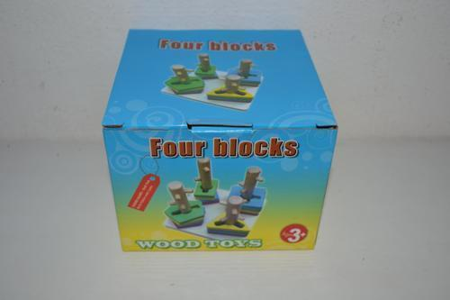 Wooden 4 Column Toy