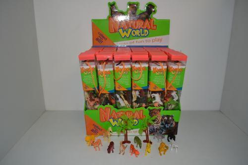 Wild Animals Plastic in Tube 12pc