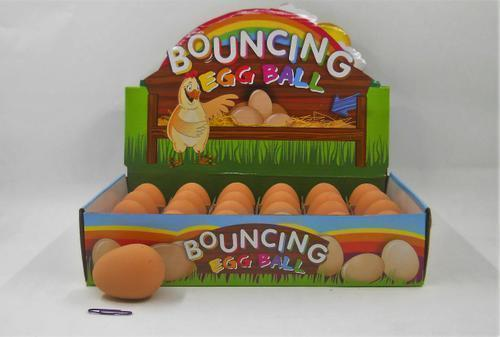 Bouncing Brown Chicken Egg