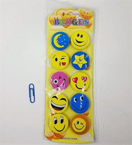 Emojie Badges 3cm 10pc