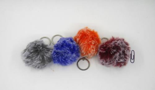 Ball 2 Colour Key Ring 8cm