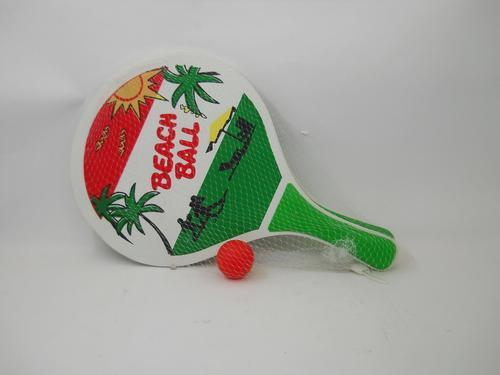 Beach Bat/Ball Wooden 2 colour