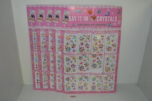 """Say It In Crystals"" Stickers"