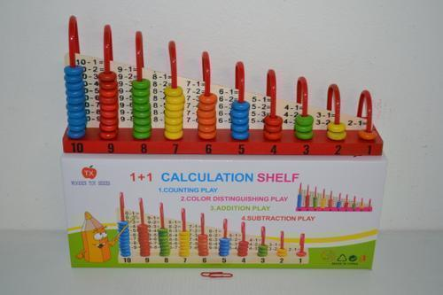 Wooden Calculator Shelf