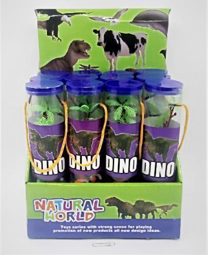 Plastic Dinosaur In Tube 12pc