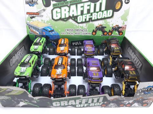 Die Cast Pull Back Graffiti Off Road Truck-369