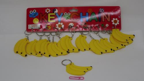 Key Ring Banana Silicone 4.5cm