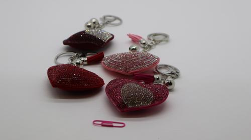 Keyring Heart Bling 4cl