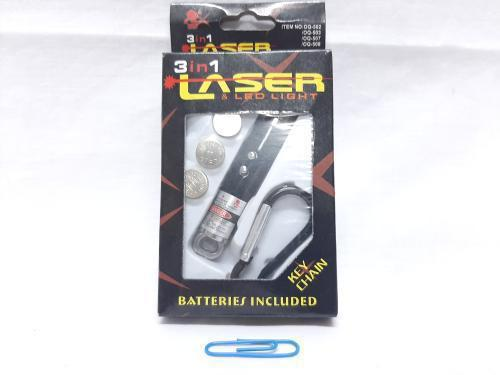 LED Laser 3 in 1 Torch Boxed