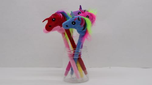 Pen Unicorn Plush 6cl