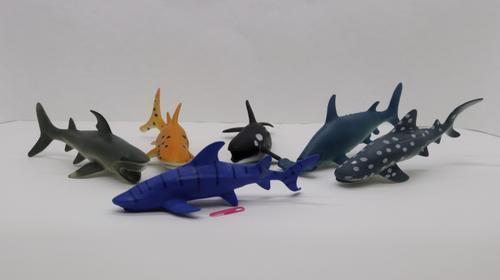 Plastic Sea Animals 17cm 6dsn