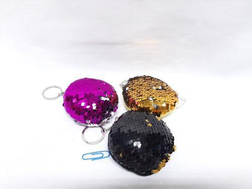 Sequins Round Key Ring 8cm