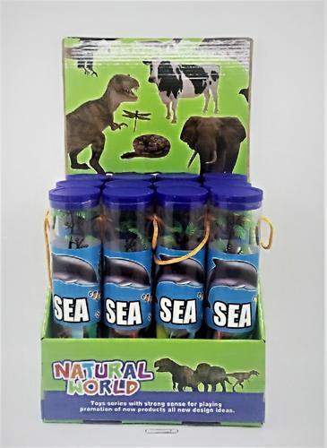 Plastic Sea Animals in Tube