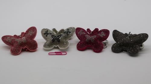 Keyring Butterfly Bling 4cl