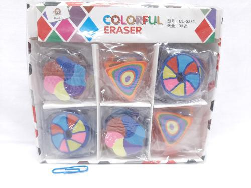 Eraser Colourful